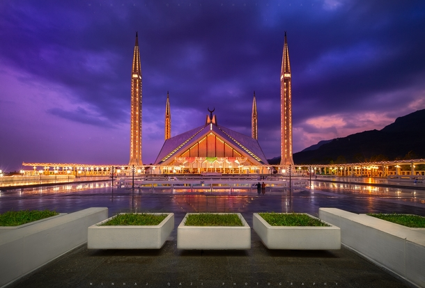 Inspired By A Bedouin S Tent The Faisal Mosque In